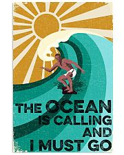 surfing the ocean is calling poster 11x17 Poster front