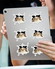 rabbit crack sticker Sticker - 6 pack (Horizontal) aos-sticker-6-pack-horizontal-lifestyle-front-11