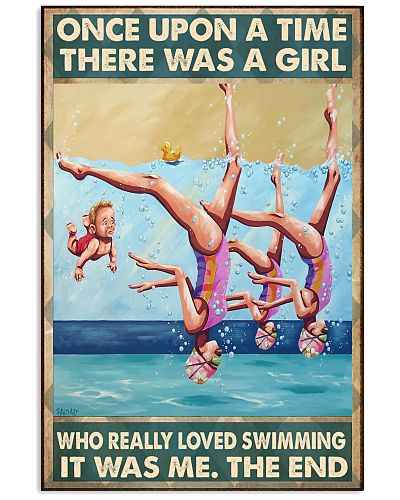 Swimming girl once upon a time poster
