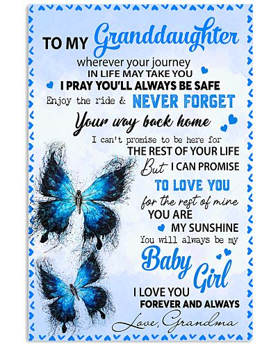 To my Granddaughter journey poster