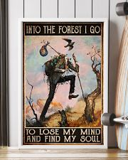 hiking into forest lose mind find soul pt phq ngt 11x17 Poster lifestyle-poster-4