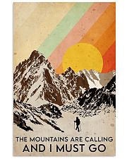 hiking the mountains are calling 11x17 Poster front