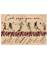 lacrosse god say you are 17x11 Poster front