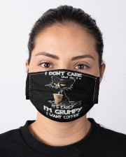 black cat coffee grumpy mas Cloth Face Mask - 3 Pack aos-face-mask-lifestyle-01
