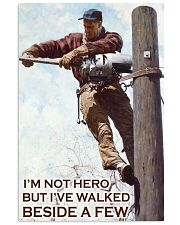 lineman I am not hero but poster 11x17 Poster front