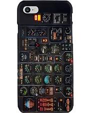 pilot Instrument Panel Plane pc lqt ngt Phone Case i-phone-8-case