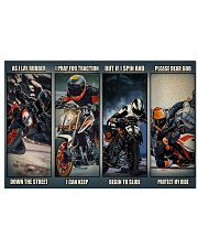 Motorbike rider god Duk KT as i lay dvhh ngt 24x16 Poster front