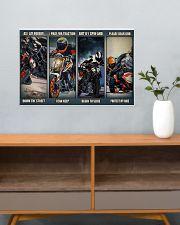 Motorbike rider god Duk KT as i lay dvhh ngt 24x16 Poster poster-landscape-24x16-lifestyle-25