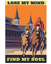 horse racing find my soul 16x24 Poster front