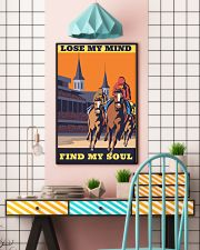 horse racing find my soul 16x24 Poster lifestyle-poster-6