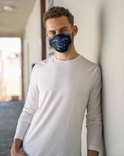 turtle SALTY LIL BEACH mandala mas Cloth Face Mask - 3 Pack aos-face-mask-lifestyle-10