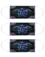 turtle SALTY LIL BEACH mandala mas Cloth Face Mask - 3 Pack front
