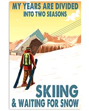 skiing 2 seasons 11x17 Poster front