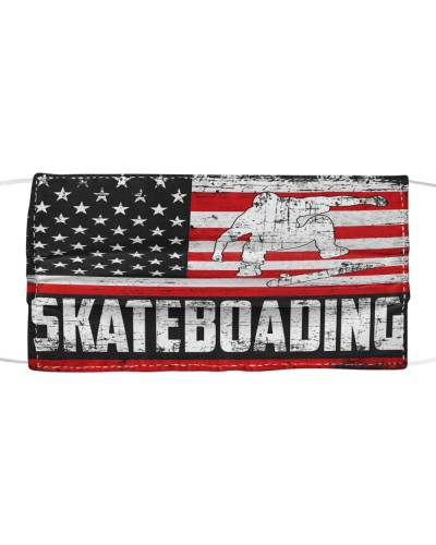 Skateboading us flag mas