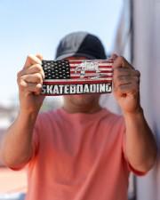 Skateboading us flag mas Cloth Face Mask - 3 Pack aos-face-mask-lifestyle-05