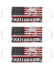 Skateboading us flag mas Cloth Face Mask - 3 Pack front