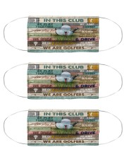 golfer in this club mas Cloth Face Mask - 3 Pack front