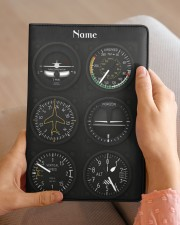 flight instruments pilot custom notebook mttn nna Medium - Leather Notebook aos-medium-leather-notebook-lifestyle-front-04
