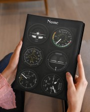 flight instruments pilot custom notebook mttn nna Medium - Leather Notebook aos-medium-leather-notebook-lifestyle-front-07