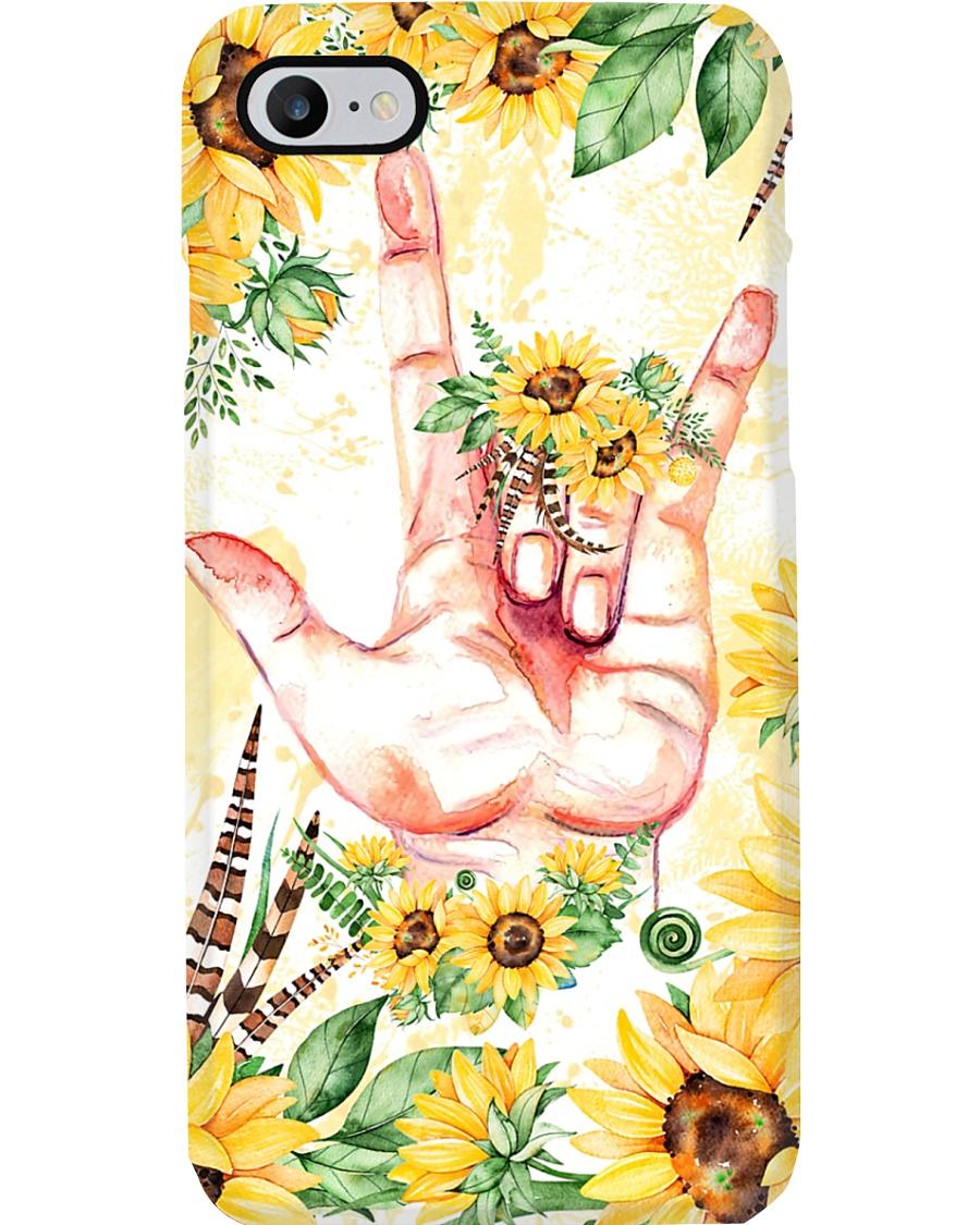 sign-languate-sunflower-case Phone Case