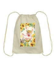 sign-languate-sunflower-case Drawstring Bag thumbnail