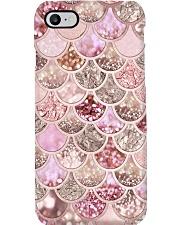 Mermaid Fin pink Phone Case i-phone-8-case