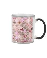 Mermaid Fin pink Color Changing Mug tile