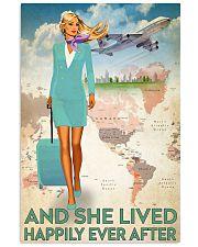 flight attendant blonde blue 11x17 Poster front