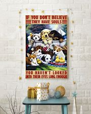 dog souls eyes poster 24x36 Poster lifestyle-holiday-poster-3