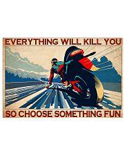moto racing choose fun pt lqt-ntv  24x16 Poster front