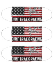 dirtbike racing us flag mas Cloth Face Mask - 3 Pack front