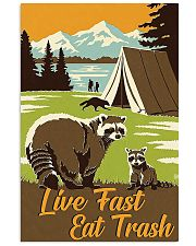 Live Fast Eat Trash hiking 11x17 Poster front