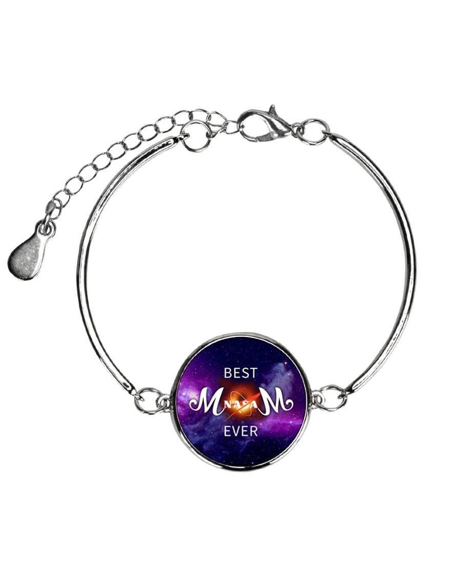 Mom-black-hold Metallic Circle Bracelet