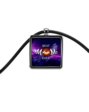 Mom-black-hold Cord Rectangle Necklace front