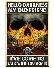 Biker Hello darkness my old friend 11x17 Poster front