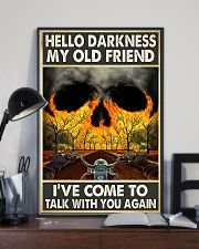 Biker Hello darkness my old friend 11x17 Poster lifestyle-poster-2