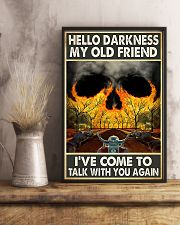 Biker Hello darkness my old friend 11x17 Poster lifestyle-poster-3