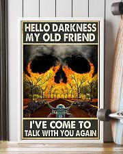 Biker Hello darkness my old friend 11x17 Poster lifestyle-poster-4