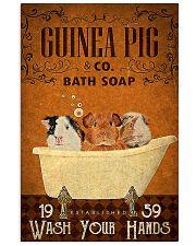 guinea pig bath soap poster 11x17 Poster front