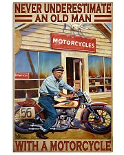 old man motorcycle india poster  11x17 Poster front