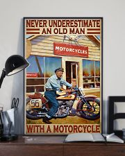 old man motorcycle india poster  11x17 Poster lifestyle-poster-2