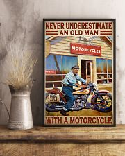 old man motorcycle india poster  11x17 Poster lifestyle-poster-3