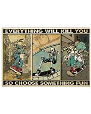 skateboard choose st fun pt phq ngt  17x11 Poster front