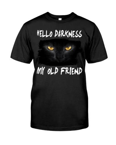 Black cat Hello darkness