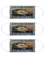 lets eat trash and get hit by a car mas Cloth Face Mask - 3 Pack front