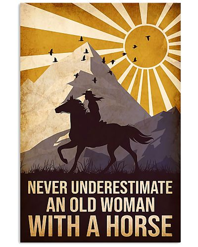 never horse and old woman poster