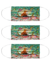 fox butterfly mas Cloth Face Mask - 3 Pack front