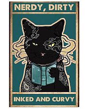 black cat book Nerdy dirty inked and curvy 11x17 Poster front