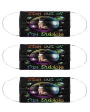 german shepherd stay out of my bubble mas Cloth Face Mask - 3 Pack front