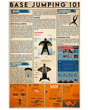 base jump 101 11x17 Poster front